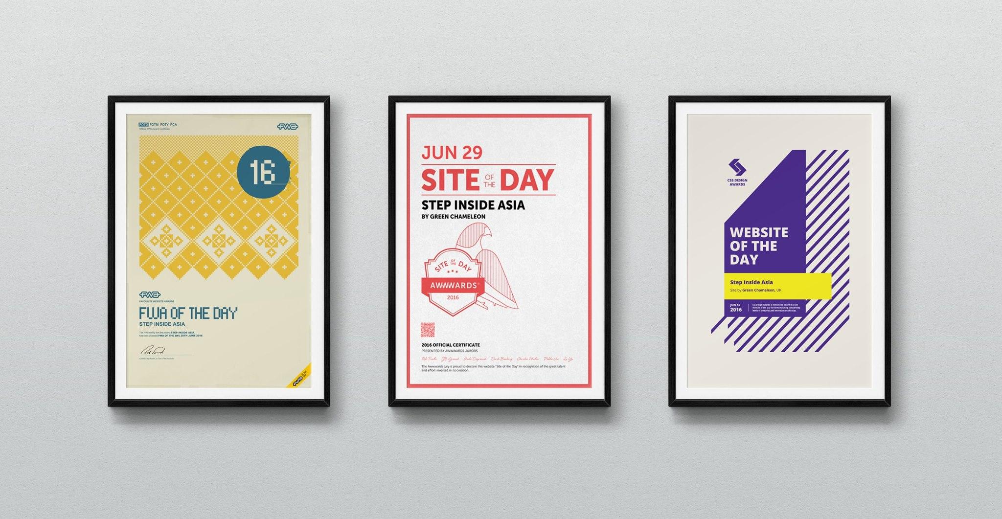 Web Design Award | Step Inside Asia Campaign Wins 3 Web Design Awards