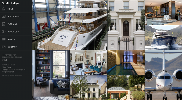 Award winning website design for a Architecture Firm in London