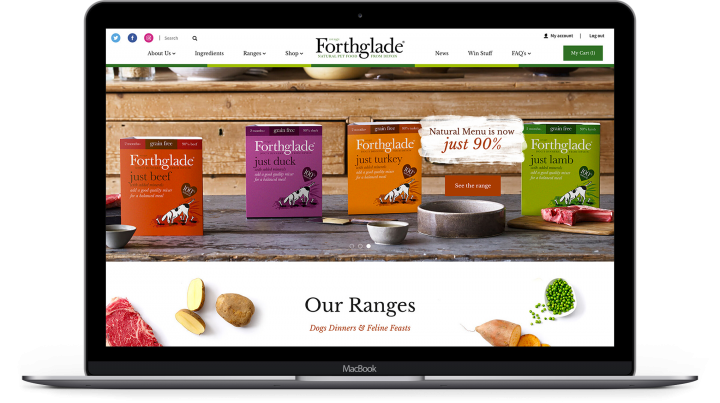 Forthglade Ecommerce website