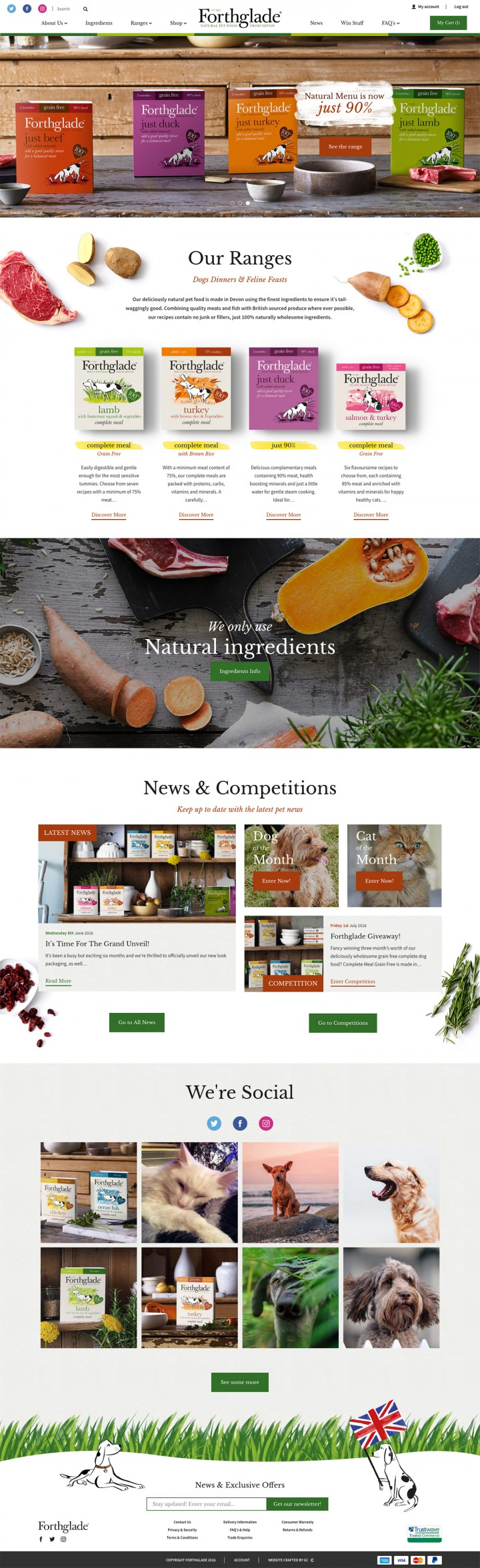 Forthglade Ecommerce Web Design
